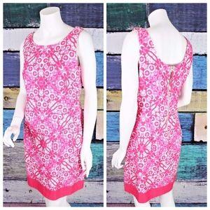 Just Taylor Retro Resort Barkcloth Sheath Dress